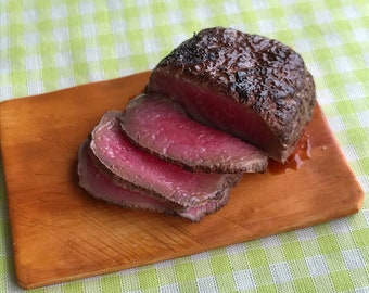 100% Organic roasted beef , dollhouse,fridge magnet,1:6 scale  miniature roast beef, dollfood beef, realistic food,