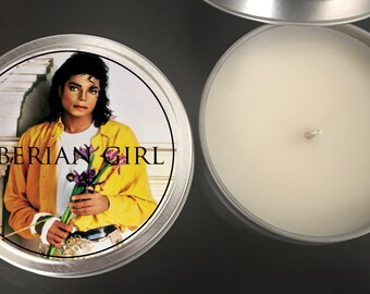 Michael Jackson Scented Customizable Candles // King of Pop // Moonwalk // Party Favors // American Pop Legend