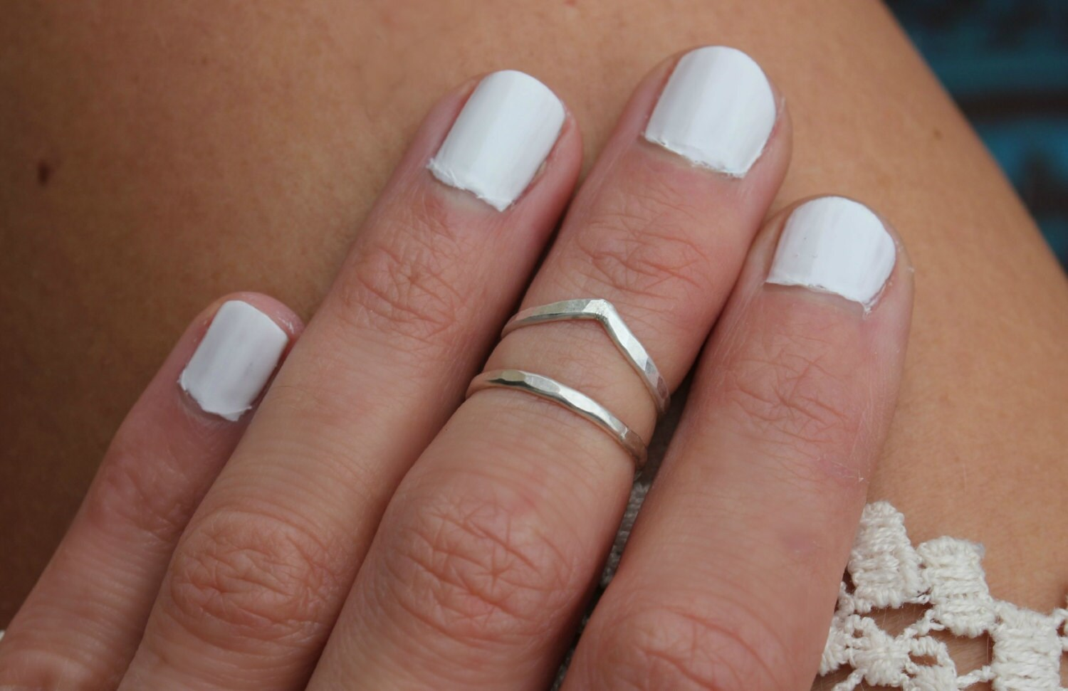 Sterling silver knuckle ring stacking rings midi rings mid zoom nvjuhfo Image collections