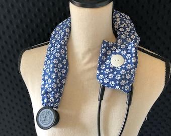 Stethoscope Cover, Nurse Graduation, Stethoscope Accessory, Registered Nurse, RN, Doctor, Vet tech - Paw Prints, Dog Mom, Dog lover