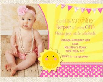 Sunshine Birthday Invitations, You are my sunshine invitation, Sunshine invites, Sunshine invitation, Little Sunshine, Sunshine party