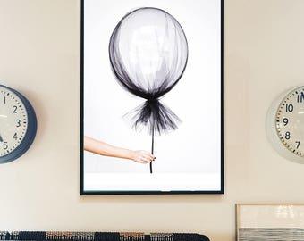 Balloon Print, Scandinavian Print, Minimalist Art, Nursery Print, Nursery Poster, Kids Room Decor, Fashion Wall Art, Feminine Art, Printable