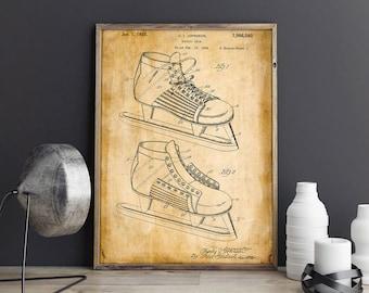 Ice Hockey Wall Art| Ice Hockey Print| Hockey Patents| Hockey Mom| Hockey Gifts| Hockey Poster| Hockey Shoes| NHL Wall Art| Wall Art| HPH477