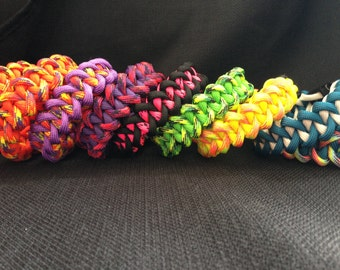 Customizable Survival 550 Paracord Bracelet in the Piranha Weave (your choice of 2 colors and custom sized)