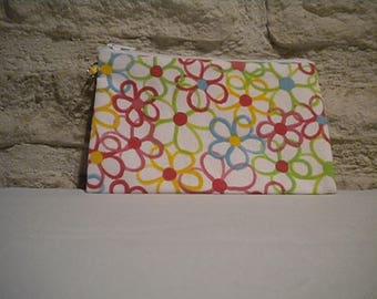 Small tote bag rectangular flower motifs