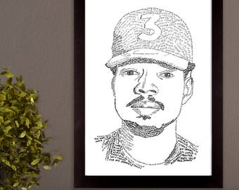 Chance the Rapper Lyric Poster