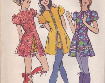 Darling Tunic or Mini Dress & Shorts Pattern Simplicity 9544 Size 10