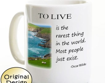 Oscar Wilde Ireland Coffee Mug - Irish Book Lover Mug - Poet /Poetry Mug - Coffee Mug- Author Quote Birthday Gift Coffee  Ireland Gift Ideas