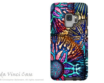 Colorful Coral Case for Samsung Galaxy S9 - Abstract S 9 Case with Art - Cosmic Star Coral - Dual Layer Case by Da Vinci Case