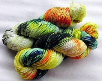 Handpainted  DK Sock Yarn, 75 Wool , 25 Nylon 200g 7.0 oz.  Nr. 152