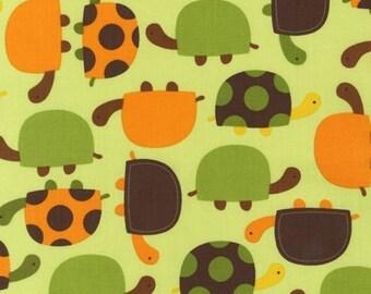 1 Fat Quarter Urban Zoologie by Ann Kelle for Robert Kaufman, Bermuda Turtles