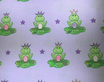 Fabric with frogs.  Ta-Da! by Dana Brooks for Henry Glass Fabrics.  Quilting Cotton Fabrics.  Choose your cut.