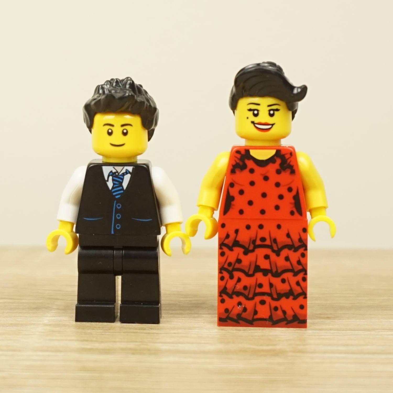 Spanish Wedding Wedding Flamenco Lego cake topper Lego cake