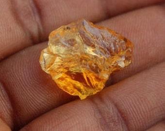 Natural Citrine Raw gemstone Natural Loose Rough Citrine Quartz Yellow Rough Citrine Crystal Quartz for jewellery {22 X 10} mm 18 Ct #1597