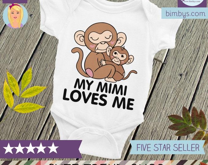 My Mimi LOVES Baby ONESIE® , MIMI Onesie, Mimi Baby, Mimi Loves Me, My Mimi Loves Me, Call Me Mimi, Grandma Loves Me, My Grandma Loves Me