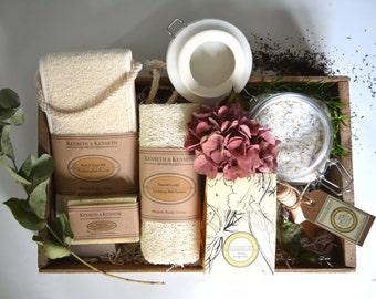 Rosemary and Orange Detox Bath Salts Spa Set // Spa Set // Spa Gift Set// Bath Salts // Gifts For Her