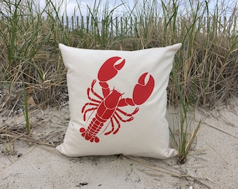 Lobster Pillow Cover 18 x 18