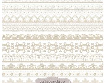 Clipart beige lace borders, clip art lace, lace border, digital lace border, digital border, lace digital, border lace