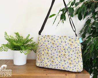 Cherry Blossom Handbag, Cross Body Bag, Shoulder Bag, Floral Bag, Cherry Blossom Fabric, Floral Gift
