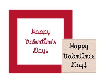 Happy Valentines Day Rubber Stamp