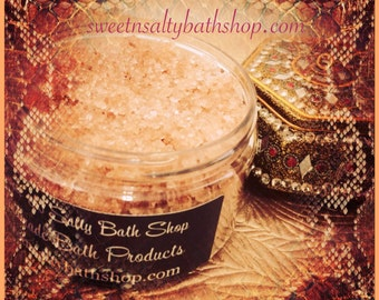 Egyptian Sandalwood Scented Sea Salt Hand and Body Scrub