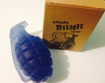 Lavender Bomb - Stinkybomb Soap hand grenade novelty soap