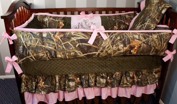 Custom Made Baby Crib Bedding Realtree Advantage Max4 Hd Camo