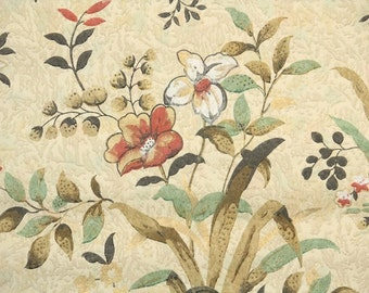 1920s Vintage Wallpaper by the Yard - Early 20th Century Floral Wallpaper