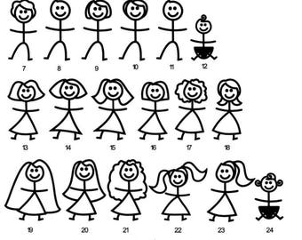 Personalised stickman picture