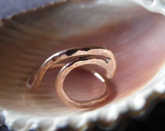 Copper wave ring size 15 3/4
