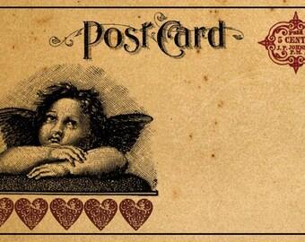 Vintage  Valentine Postcards Digital Download