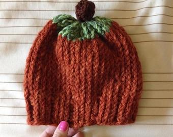 Pumpkin Beanie / Hat / Cap - Custom - Thanksgiving - Fall / Autumn - Festive - Made to Order