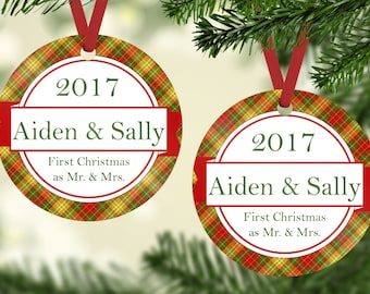 Our First Christmas Ornament, Mr & Mrs Ornament, Personalized Ornament