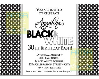 All white party invitation white party invitation summer black and white party invitation black white party invitation white and black invitation black white party 30th 40th 50th 60th stopboris Image collections