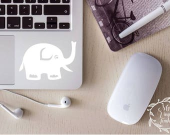 cute elephant decal, elephant car decal, elephant sticker, elephant, elephant laptop decal, elephant cup decal, elephant gift, baby shower