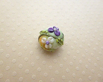 Handcrafted bead glass 15 x 18 mm - GBPB 0905
