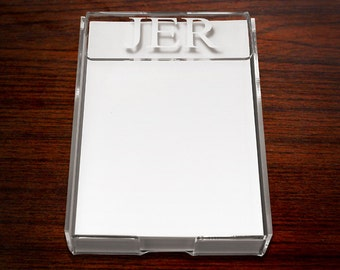 Personalized Note Holder - Acrlic Note Holder-Monogrammed-Unique Personalized Engraved Gift