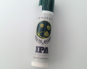 IPA flavored lip balm - craft beer inspired lip balm - grapefruit, hops and bergamot flavored lip balm