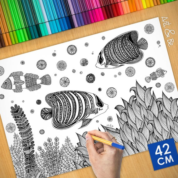 Coloring poster - EXOTIC ...