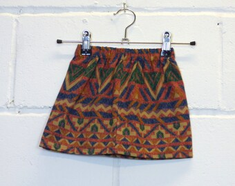 Upcycled Aztec Kids Skirt