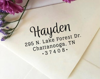 Return Address Stamp, Personalized Address Stamp, Self Inking Address Stamp, Wooden Stamp, Rubber Stamp, Custom Address Stamp, Wedding Stamp