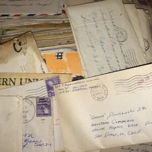 1 Vintage WW2 correspondence letter from family/couples/lovers, US navy, love letter, vintage ephemera, vintage letter,