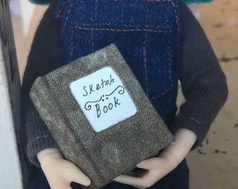 Miniature Sketch Book- Grey
