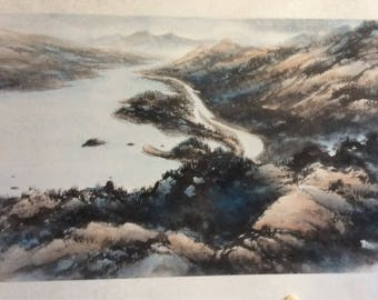 Original Chinese Painting-Natural Scenery(North American Landscape)