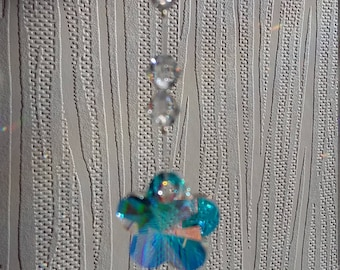 SALE: Swarovski Crystal Flower Shaped Christmas Decoration/Sun Catcher