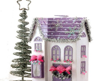 The Anastasia - A Miniature Christmas Village House PDF Template to Make and Decorate with Paper