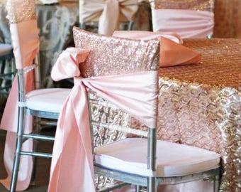 Chiavari Chair Caps, Sequin Chair Cover,  Chiavari Chair Covers, Sequin Chair Cap  LARGEST COLOR SELECTION