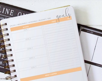 2017 Printable Planner for Bloggers in Creamsicle