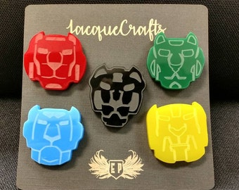 Voltron Legendary Defender Paladin Lapel Pins, Shiro, Kieth, Lance, Pidge, Hunk, Allura