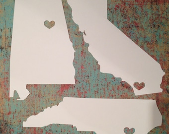 5x7 State cut outs